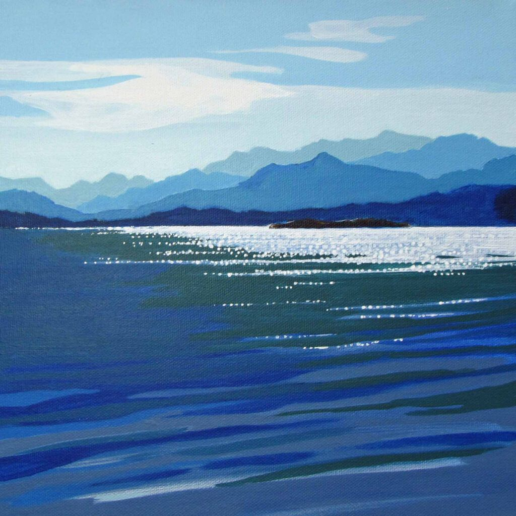 into the blue painting