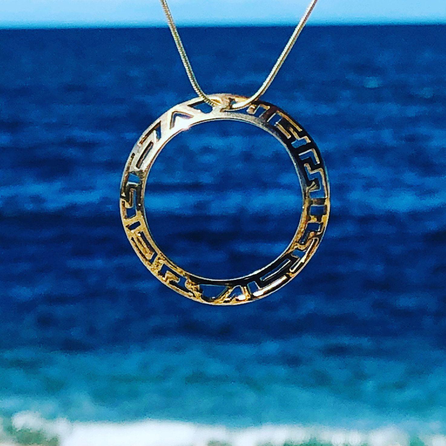 sea and silver pendant