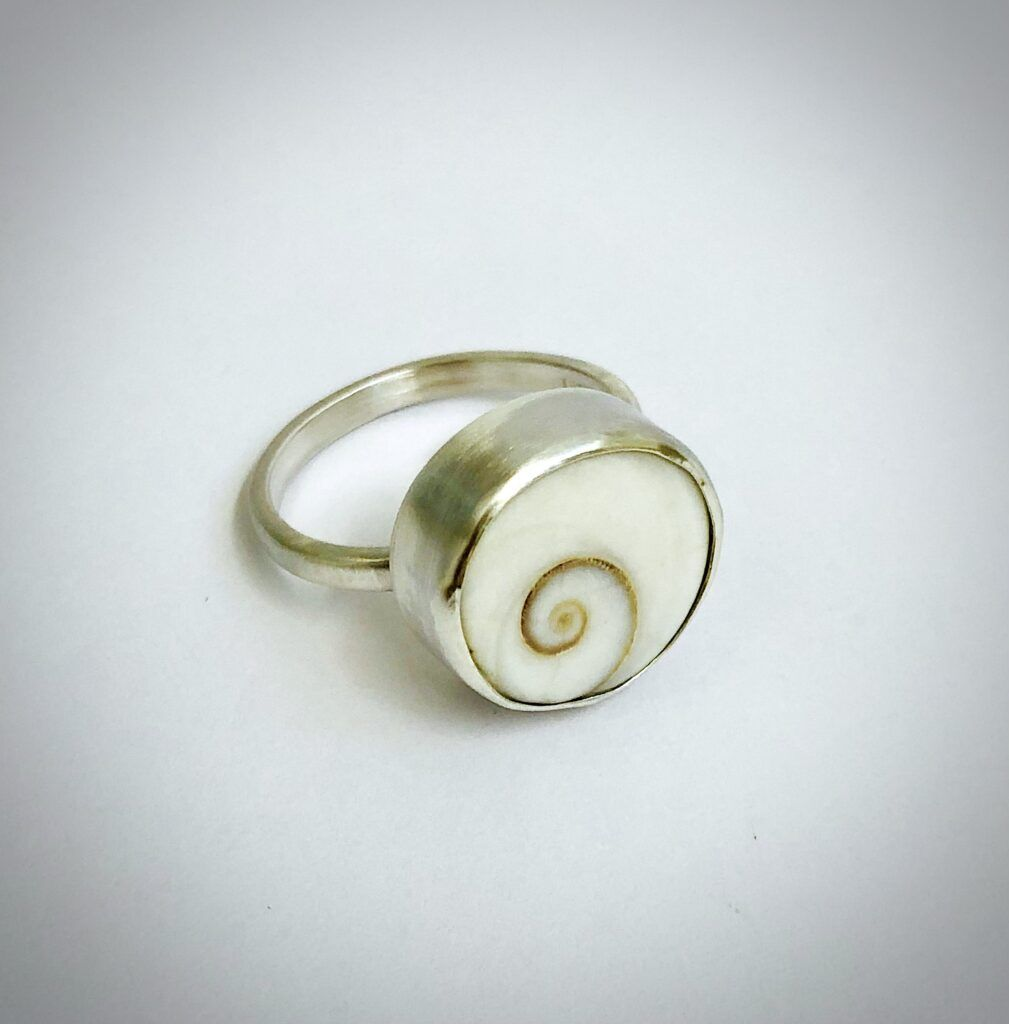 Sea and silver ring