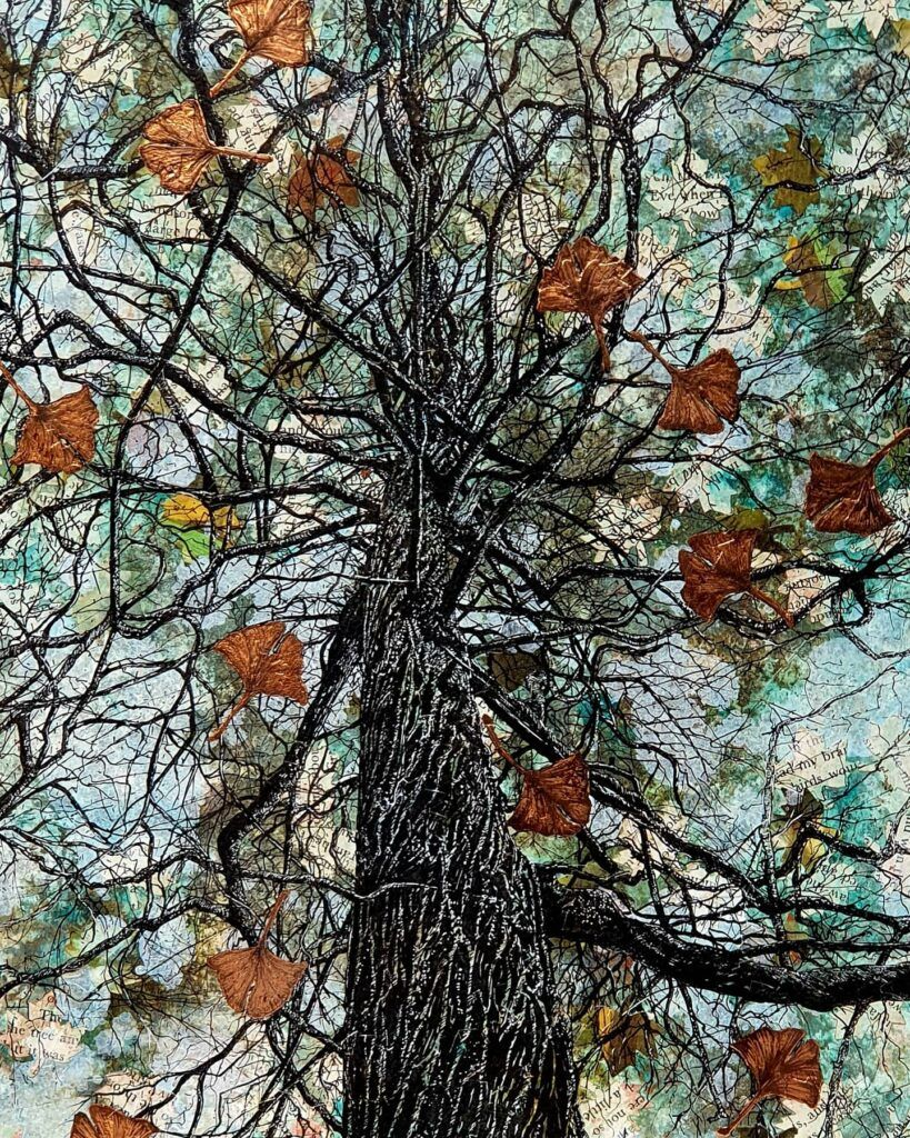 tree mixed media artwork